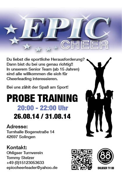Epic cheer Probetraining